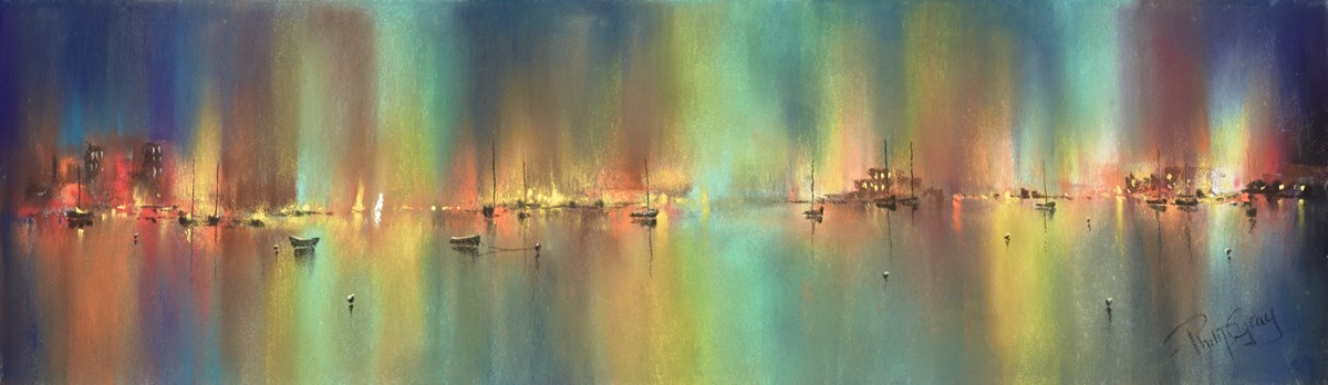 Quiet Harbour IV by philip gray -  sized 24x7 inches. Available from Whitewall Galleries